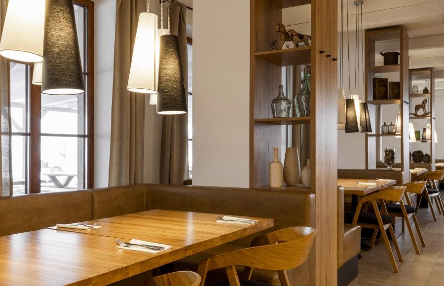 Priestory reštaurácie Bučany
